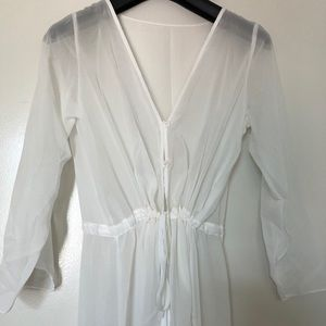 Other - White mesh bathing suit cover up or robe